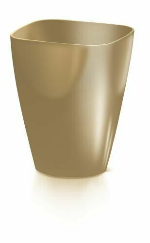 Květináč COUBI ORCHID hranatý káva s mlékem 13,2cm