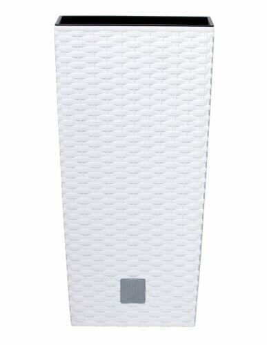 Květináč RATO SQUARE + vklad bílý 28,7 cm
