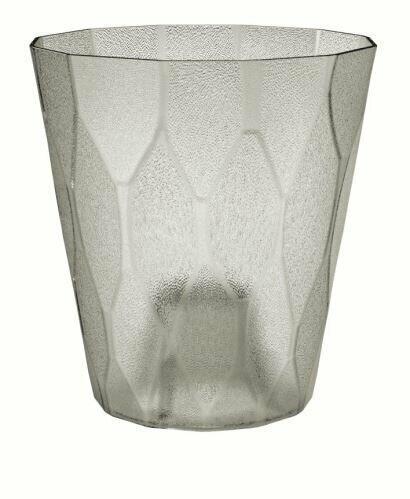 Květináč ROCKA P transparentní ledově šedý 17,0 cm