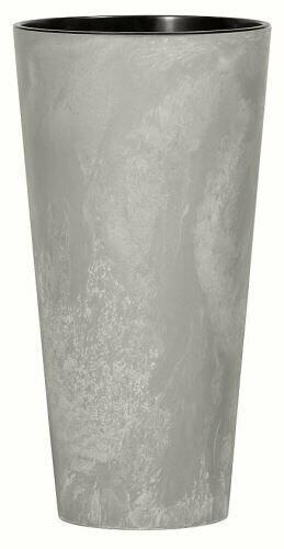 Květináč TUBUS SLIM BETON NEW šedý 15cm