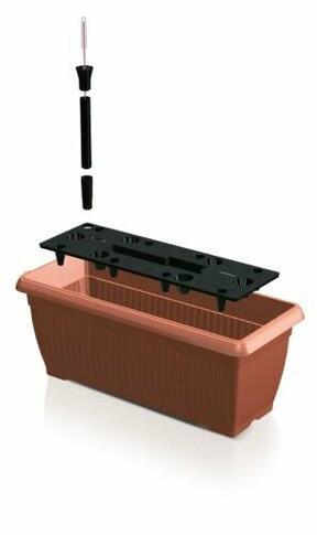 Truhlík BALCONY CAN 60 cm + zavlažovací systém