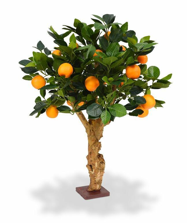 Umělá bonsaj Citrónovník pomerančový 65 cm