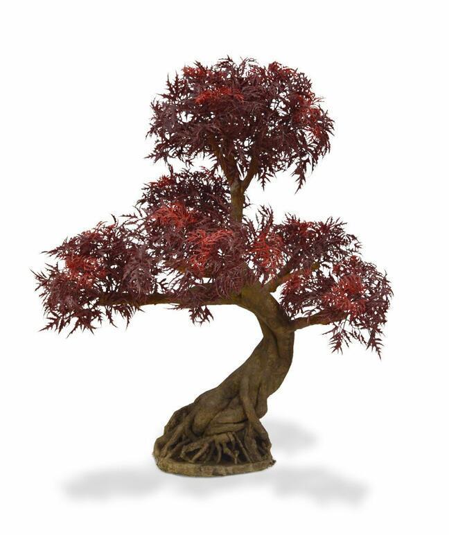 Umělá bonsaj Polyscias fruticosa burgundy 90 cm