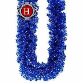 Umělá girlanda Jedle třpytivá modrá 300 cm