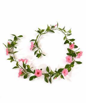 Umělá girlanda Petunie růžová 180 cm