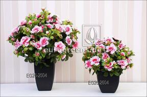 Umělá kytice Belgická Azalka krémově růžová 25 cm