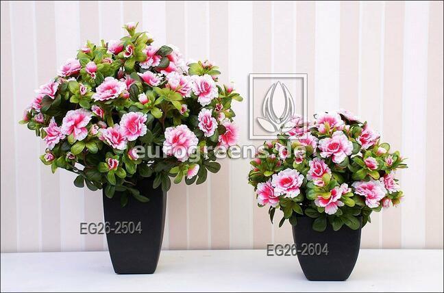 Umělá kytice Belgická Azalka krémově růžová 40 cm