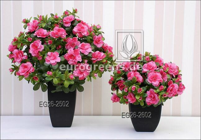 Umělá kytice Belgická Azalka růžová 40 cm