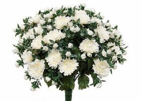 Umělá kytice Chryzantéma bílá 35cm