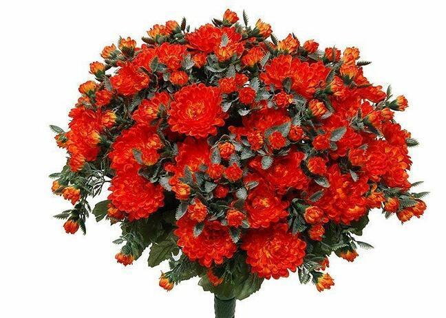 Umělá kytice Chryzantéma oranžová 35cm