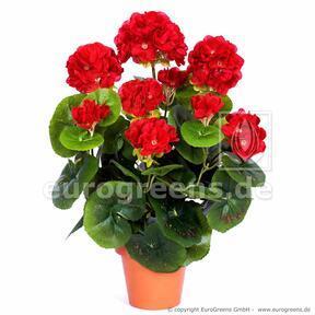 Umělá kytice Pelargónie červená 40 cm