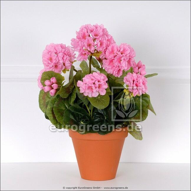 Umělá kytice Pelargónie růžová 40 cm