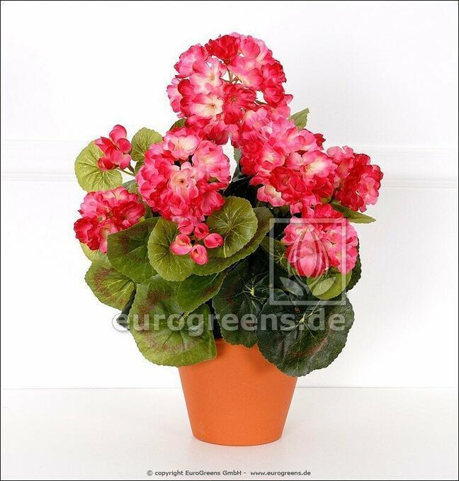 Umělá kytice Pelargónie světle růžová 40 cm