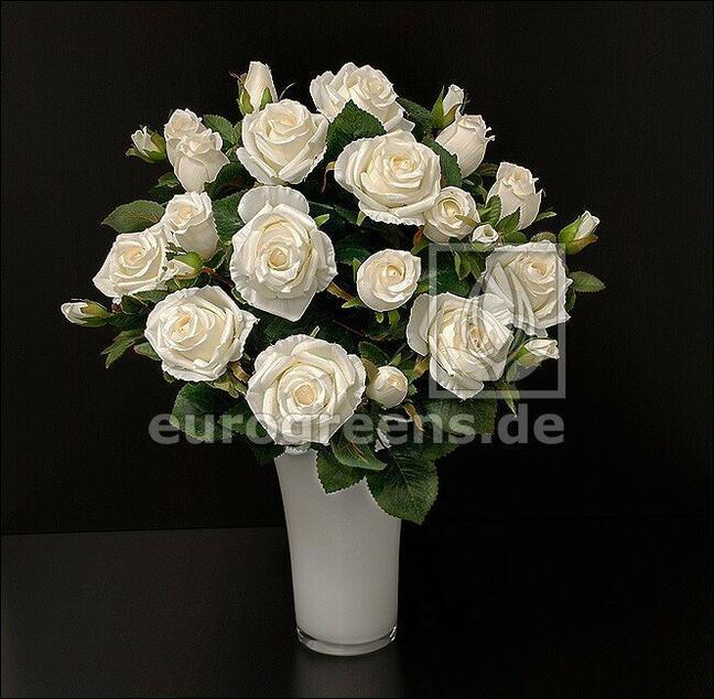 Umělá kytice Růže krémová 50 cm