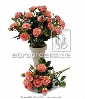 Umělá kytice Růže růžová 25 cm