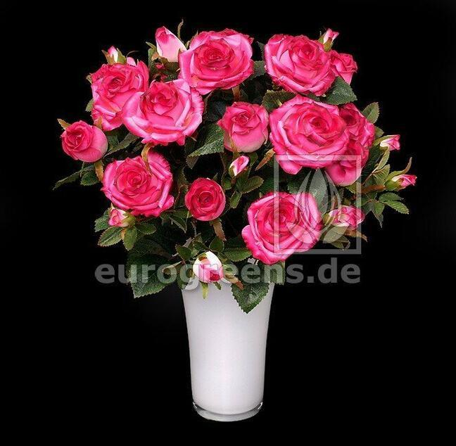 Umělá kytice Růže růžová 50 cm