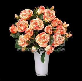 Umělá kytice Růže růžovo-meruňková 50 cm