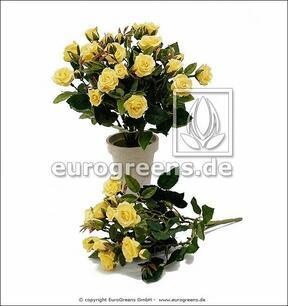 Umělá kytice Růže žlutá 25 cm