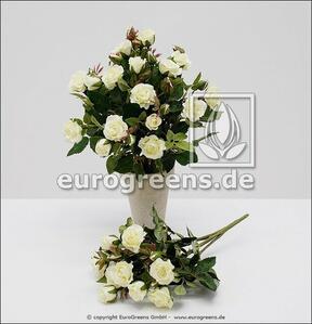 Umělá kytice růží bílá 25 cm