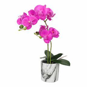 Umělá orchidej cyklámenová 49 cm