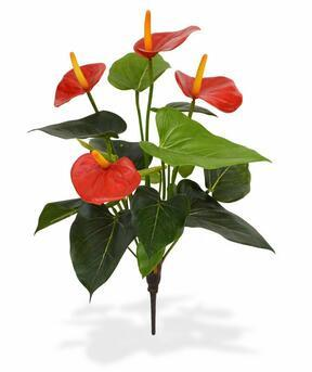 Umělá rostlina Anthurium červená 40 cm