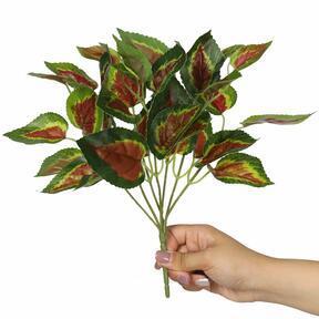 Umělá rostlina Bazalka červená 25 cm