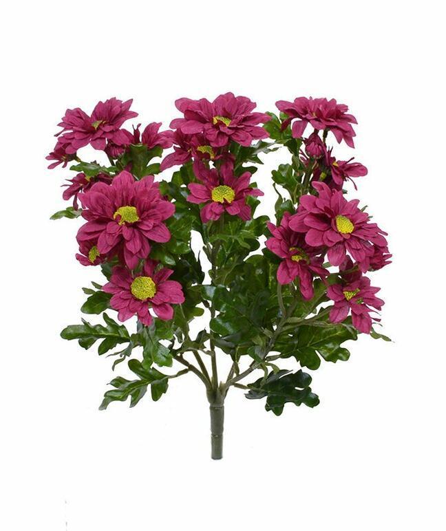 Umělá rostlina Chryzantéma červeno-bordó 35 cm
