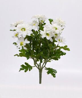 Umělá rostlina Chryzantéma krémová 35 cm