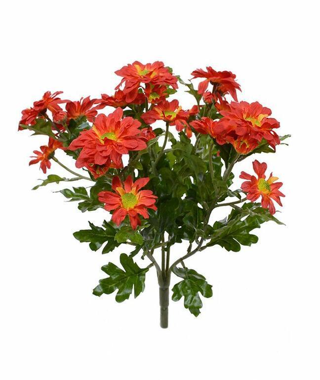 Umělá rostlina Chryzantéma oranžová 35 cm