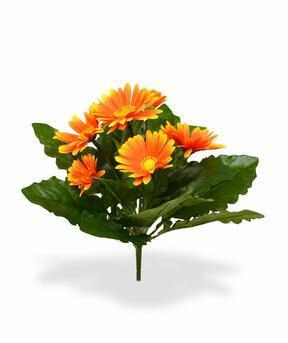 Umělá rostlina Gerbera oranžová 30 cm