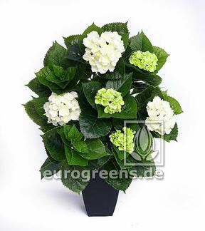 Umělá rostlina Hortenzie bílá 80 cm