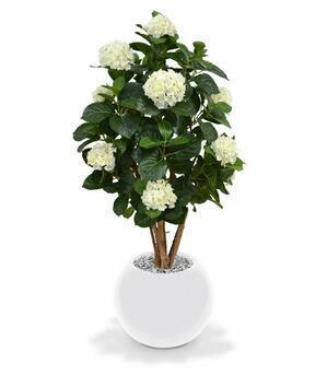Umělá rostlina Hortenzie krémová 110 cm