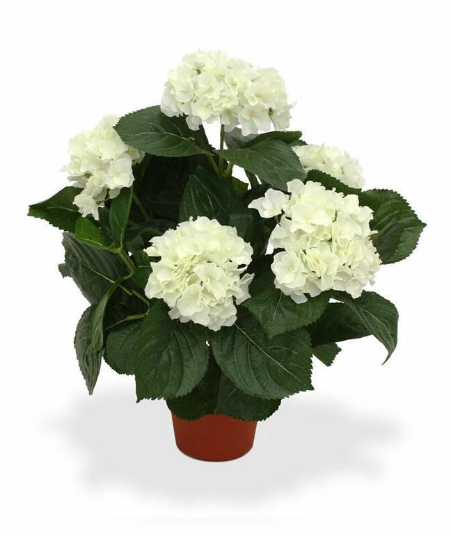 Umělá rostlina Hortenzie krémová 45 cm