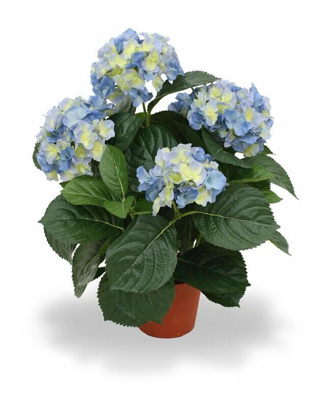 Umělá rostlina Hortenzie modrá 45 cm