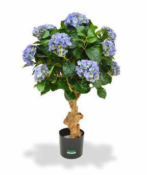 Umělá rostlina Hortenzie modrá 90 cm