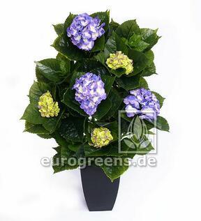 Umělá rostlina Hortenzie modro-zelená 80 cm