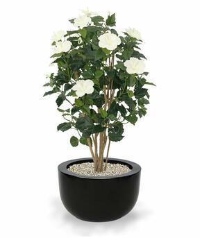 Umělá rostlina Ibišek krémový 100 cm