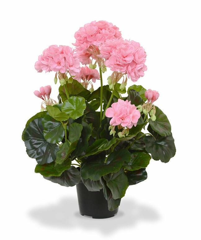 Umělá rostlina Kakost růžová 40 cm