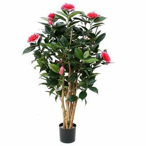 Umělá rostlina Kamélie růžová 100 cm