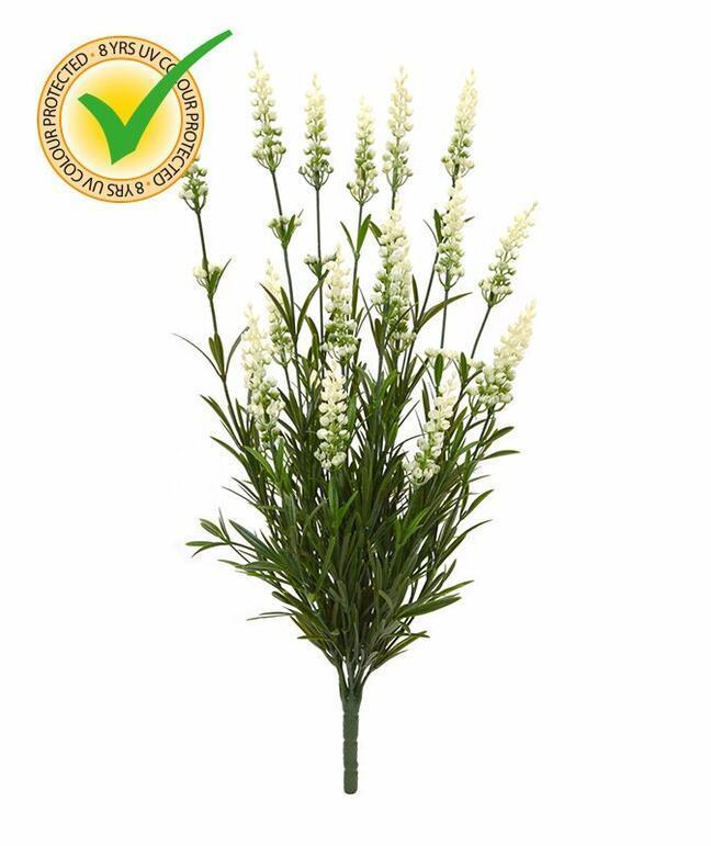 Umělá rostlina Levandule bílá 50 cm