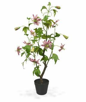 Umělá rostlina Mučenka růžová 90 cm