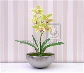 Umělá rostlina Orchidea Cymbidium světlezelená 50 cm