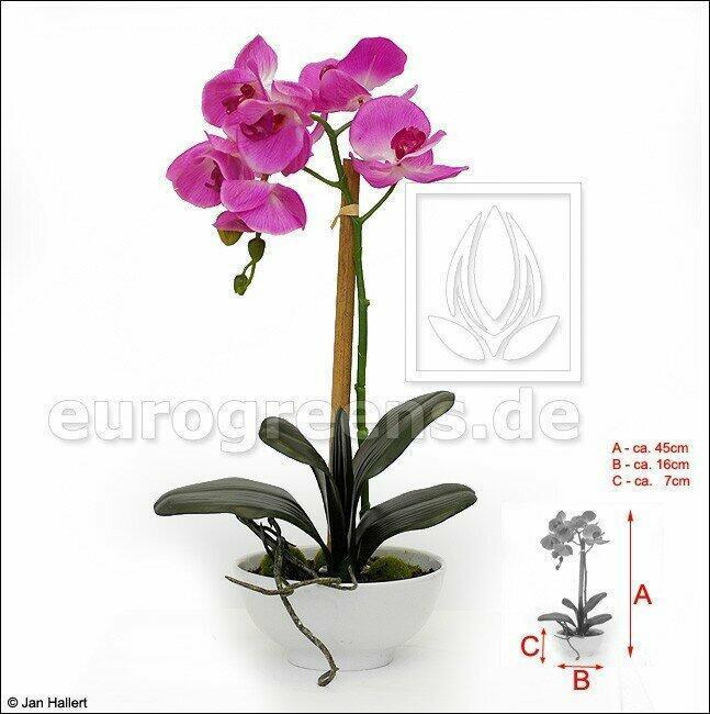Umělá rostlina Orchidej fialová 45 cm