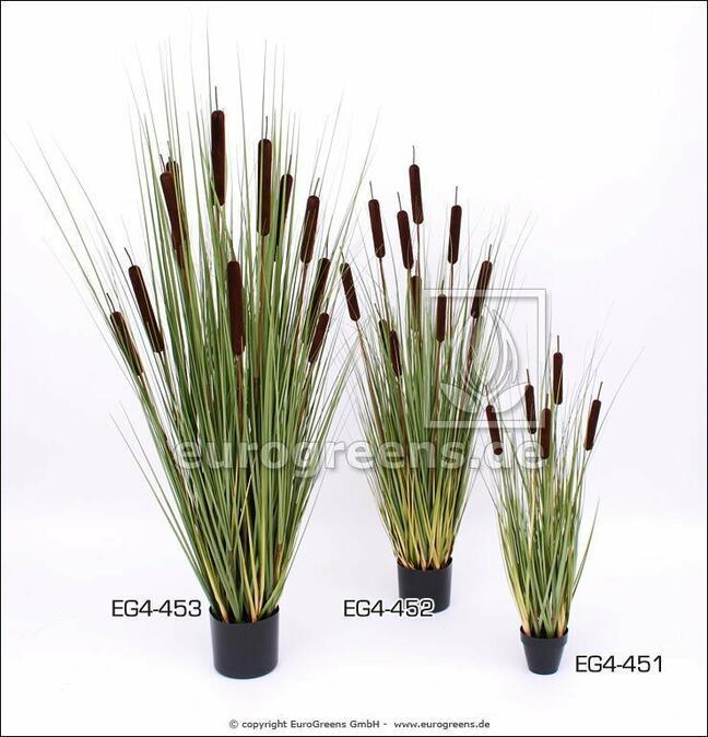 Umělá rostlina Pálka cattails v květináči 90 cm