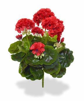 Umělá rostlina Pelargónie červená 40 cm