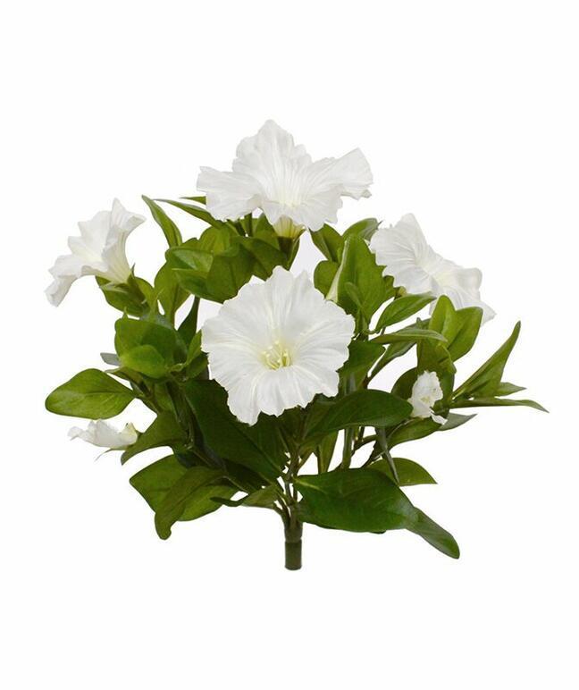 Umělá rostlina Petunie krémová 25 cm