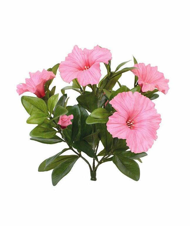 Umělá rostlina Petunie růžová 25 cm
