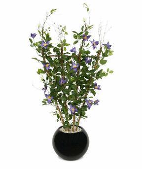 Umělá rostlina Plamínek fialová 125 cm