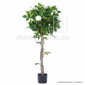 Umělá rostlina Růže bílá 125 cm