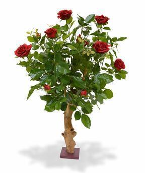 Umělá rostlina Růže červená 75 cm